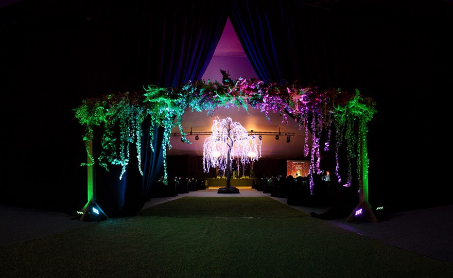 Enchanted forrest school ball decorations at HBF Stadium