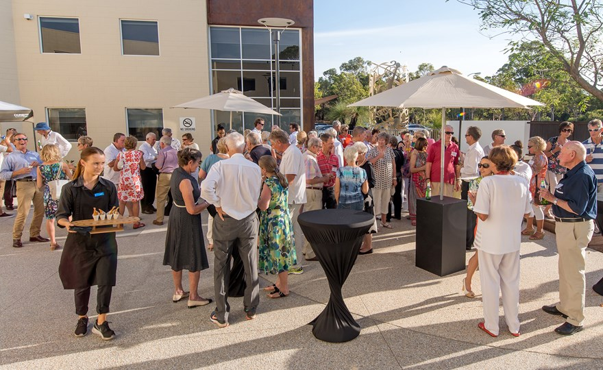 Sundowner function at HBF Stadium courtyard Mt Claremont.jpg
