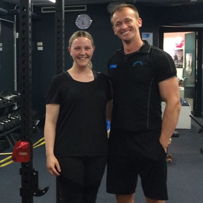 Personal Trainer and client HBF Stadium