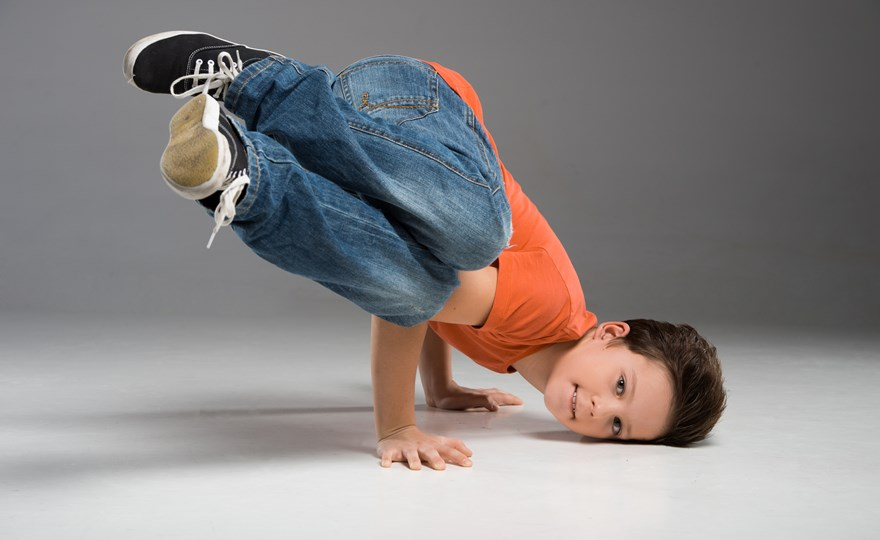 Young boy breakdancing 2