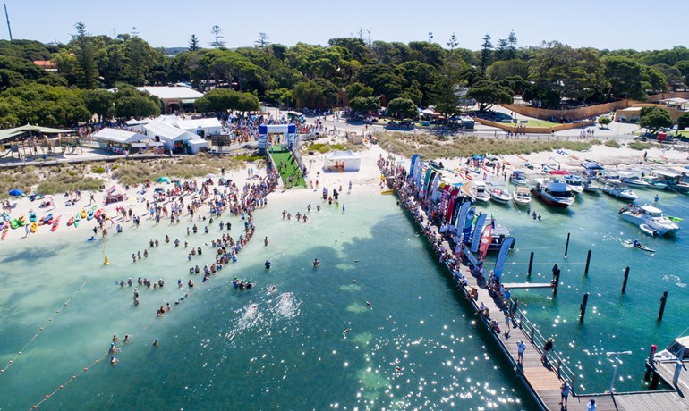 2017 Rottnest Channel Swim Finish Line