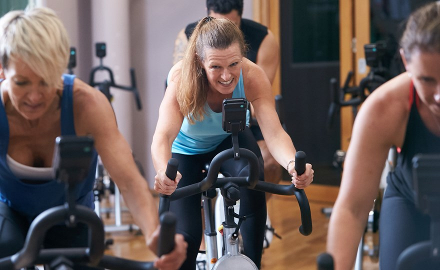 High intensity cycle classes at HBF Stadium Gym